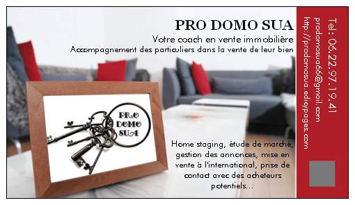 Pro Domo Sua business card